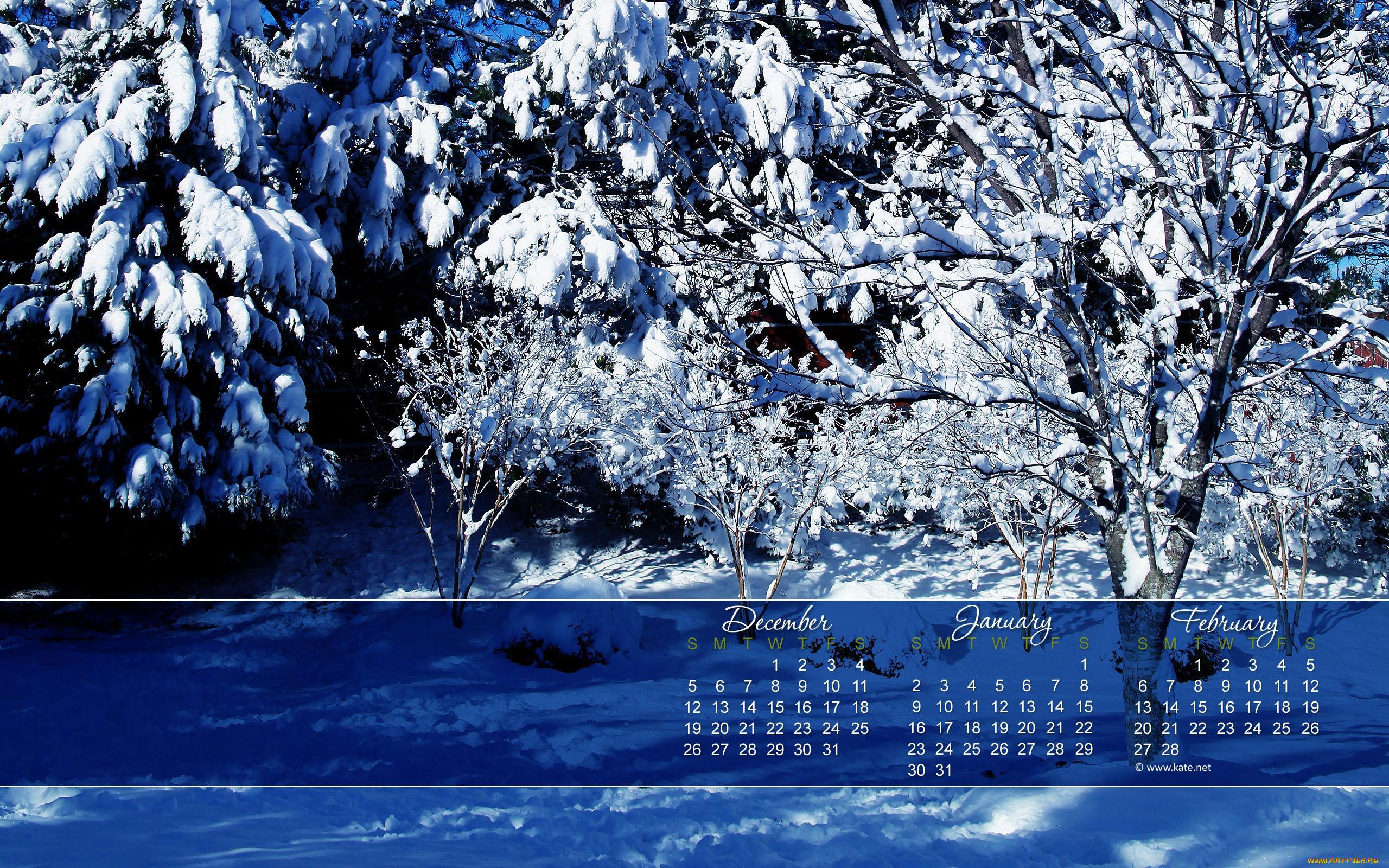 Фотографии времен года для календаря
